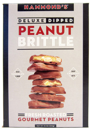 Hammond's of Colorado Deluxe Chocolate Dipped Peanut Brittle-0