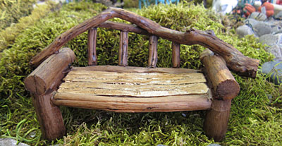 Rustic Log Bench-0